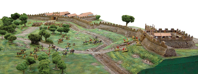 Antonine Wall reconstruction by Paul Darnell