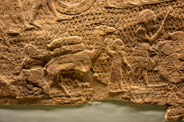 Detail from the Siege of Lachish Reliefs at the British Museum