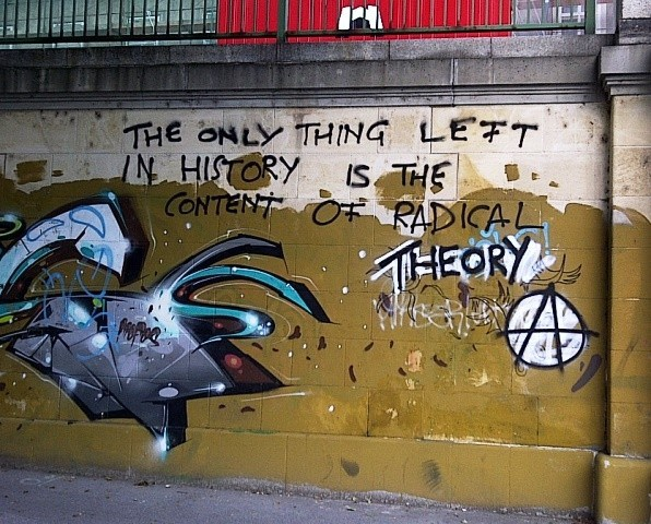 Radical Theory graffiti, Vienna